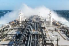 Overzeese dalingen op het schepenvenster royalty-vrije stock afbeelding