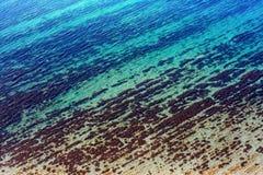 Overzeese die bodem door transparante oppervlakteachtergrond wordt bekeken royalty-vrije stock foto