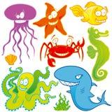 Overzeese dieren vector illustratie