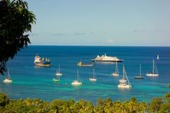 Overzeese droom 1 bij anker in de windwaartse eilanden Royalty-vrije Stock Afbeelding