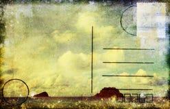 Overzeese en wolkenprentbriefkaar Stock Fotografie