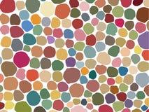 Overzeese gebaseerd shells, organisch patroon, met in pastelkleuren Stock Afbeelding