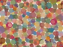 Overzeese gebaseerd shells, organisch patroon, met vermenigvuldigde lagen, in pastelkleuren Stock Afbeeldingen