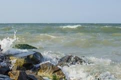 Overzeese golf op zee in de zomer Stock Foto