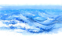 Overzeese golven stock illustratie
