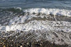 Overzeese golven, strand, Kavros, Kreta, Griekenland, Europa royalty-vrije stock foto's