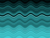 Overzeese golvensamenvatting Stock Afbeelding