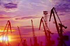 Overzeese haven Stock Foto's