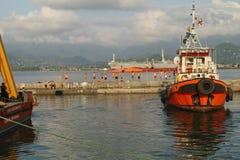Overzeese haven van Batumi, Georgië Stock Foto's