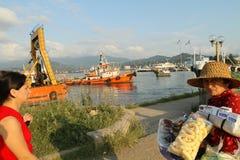 Overzeese haven van Batumi, Georgië Royalty-vrije Stock Foto's