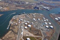 Overzeese havens van de antenne van de Rivier Hudson Stock Foto's