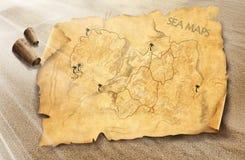 Overzeese kaart Stock Foto's