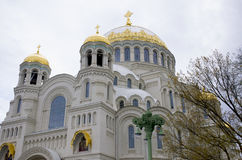Overzeese kathedraal Kronstadt Rusland Royalty-vrije Stock Afbeeldingen