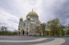 Overzeese kathedraal Kronstadt Rusland Royalty-vrije Stock Afbeelding