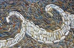 Overzeese kiezelstenen Kleine de textuurachtergrond van het stenengrint Stapel van Kiezelstenen Royalty-vrije Stock Fotografie
