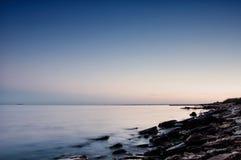 Overzeese kust in Chabanka Odesa de Oekraïne Stock Fotografie