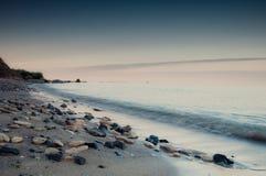 Overzeese kust in Chabanka Odesa de Oekraïne Royalty-vrije Stock Afbeeldingen
