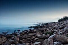 Overzeese kust in Chabanka Odesa de Oekraïne Royalty-vrije Stock Fotografie