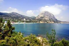 Overzeese kust in de Krim Stock Fotografie