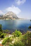 Overzeese kust in de Krim Stock Afbeelding