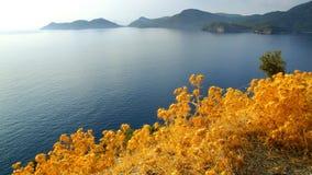 Overzeese kust dichtbij Oludeniz Royalty-vrije Stock Foto's