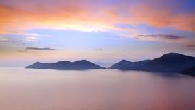 Overzeese kust dichtbij Oludeniz Stock Foto's