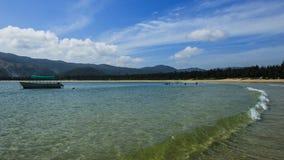 Overzeese kust in Hainan, China stock foto