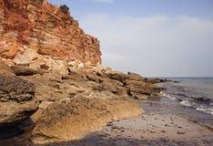 Overzeese kust in het eb Royalty-vrije Stock Afbeeldingen