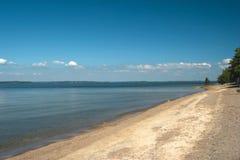 Overzeese kust in het kamperen dichtbij Hanko Stock Foto