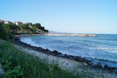 Overzeese kust, kust stock fotografie