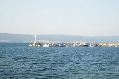 Overzeese kust, kust royalty-vrije stock foto's