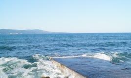 Overzeese kust, kust royalty-vrije stock afbeelding