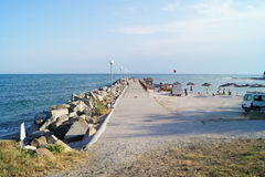 Overzeese kust, kust stock foto