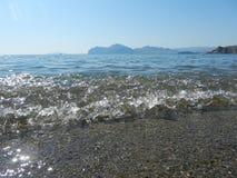 Overzeese kust Mening van hierboven Stock Afbeeldingen