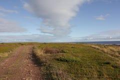 Overzeese kust Mening van hierboven Royalty-vrije Stock Afbeeldingen