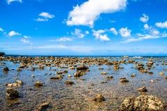 Overzeese kust Mening van hierboven Royalty-vrije Stock Fotografie