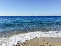 Overzeese kust Mening van hierboven royalty-vrije stock foto