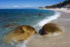 Overzeese kust in Tropea Italië royalty-vrije stock fotografie