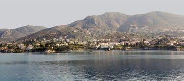 Overzeese kust van het Griekse eiland royalty-vrije stock afbeelding