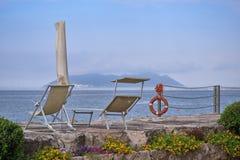 Overzeese kust van Odysseus-Mening van Ithaca-Eiland royalty-vrije stock afbeelding