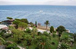 Overzeese mening in Frankrijk, Middellandse Zee royalty-vrije stock afbeeldingen