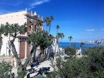 Overzeese mening/Oude stad Jaffa, Israël Royalty-vrije Stock Fotografie