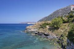 Overzeese mening over het Creta-Eiland Stock Afbeeldingen