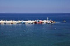 Overzeese mening over het Eiland van Kreta Royalty-vrije Stock Afbeeldingen
