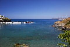 Overzeese mening over het Eiland van Kreta Stock Afbeelding