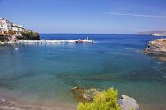 Overzeese mening over het Eiland van Kreta Stock Foto's