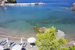 Overzeese mening over het Eiland van Kreta Royalty-vrije Stock Foto's