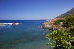 Overzeese mening over het Eiland van Kreta Stock Fotografie