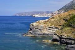 Overzeese mening over het Eiland van Kreta Royalty-vrije Stock Afbeelding