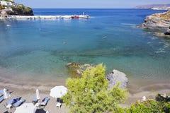 Overzeese mening over het Eiland van Kreta Stock Foto